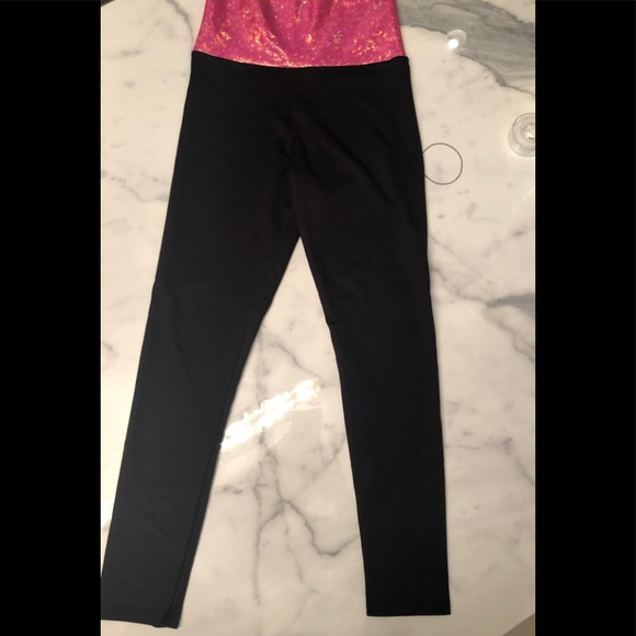 acdc864a73 bwxxx Pants | Silky Leggings With Iridescent Pink Waistband | Poshmark
